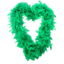 GREEN 65 GRAM FEATHER BOA FANCY DRESS ACCESSORY HEN NIGHT PARTY GANGSTER FLAPPER