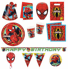 ULTIMATE SPIDER-MAN Birthday PARTY RANGE - Original - Spiderman/Marvel/Tableware