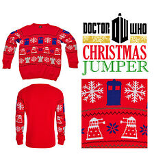 Doctor Dr Who Jumper BBC Tardis Daleks Christmas Winter Sweater Collectables
