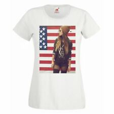 Womens Modern Pin Up USA American Graphic T Shirt White