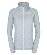 00 The North Face Thermoball Full Zip Piumino Donna, High Rise Grey