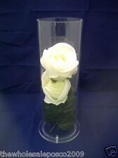Tubular Cake Separator with Clear Perspex Hollow Tube & Clear Acrylic Base