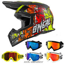 O'Neal 5series VANDAL neon Helm Crosshelm MX Motocross Cross HP7 Brille Enduro