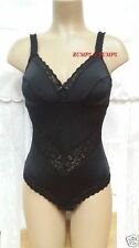 NEW MISS MARY OF SWEDEN NON WIRED BLACK LACEY SUPPORT BODY 3609 - UK 38C