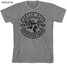 Official T Shirt GREEN DAY Revolution Radio CAT CREST Grey All Sizes