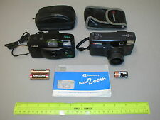 LOT OF 2 CANON & CHINON 35MM. COMPACT AUTO / FLASH FILM CAMERAS CLEAN & WORKING