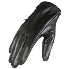 New Mens Texpeed Black Soft Leather Motorcycle Gloves With Protective Lining