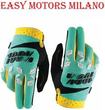 GUANTI DA MOTOCROSS ENDURO MOTARD SUPPER MOTARD AIRMATIC 100% MENTA