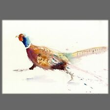 JEN BUCKLEY signed LIMITED EDITON wildlife PRINT of original running PHEASANT