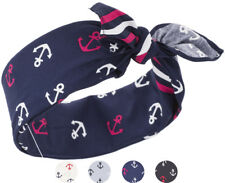 Küstenluder JANAE Nautical Sailor ANCHOR Anker Hairband BANDANA Rockabilly