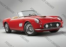 Retro Poster Wall art Print of Vintage Ferrari 250 GT California Spyder 1961