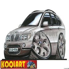 Koolart Cartoon BMW X5 E53 4x4 Silver - Mens Gifts (475)