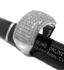 Crust of Ice Micropave Hiphop Bling Mens Ring - Silver Plated