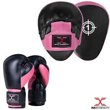 Gel Focus Pads Boxing Gloves and Hook Jab Pad Set Punch Bag Muay Thai Mitts MMA