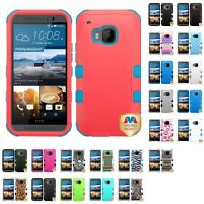 For HTC One M9 Hybrid TUFF IMPACT Phone Case Hard Rugged Cover