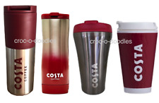 Costa Coffee Ripple Travel Mug Tumbler CLEVER Cup Steel Thermal Insulated 450ml
