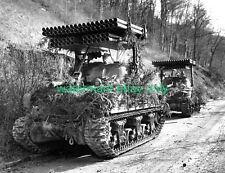 M4A1 SHERMAN TANK 1944 Rocket Launcher Photo ARMY Military WW2 T34 Calliope