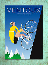Metal Sign deco style Ventoux cycling poster decorative tin wall door plaque