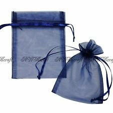 """50 Strong Sheer Organza Pouch 7x9cm 3x3.5"""" Wedding Favor Gift Candy Jewelry Bags"""