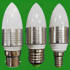 4x 3W LED Ultra Basse Consommation Ampoule Type Bougie 3000K Blanc Chaud Lampes