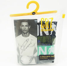 2 Pack Cristiano Ronaldo CR7 TRUNK Boxer Shorts Underwear Kids Children's Boy's