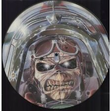 """IRON MAIDEN Aces High 12"""" VINYL UK Emi 1984 3 Track Limited Pic Disc B/W King"""