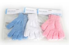BATH GLOVES ONE PAIR EXFOLIATING SKIN CARE SCRUB SCRUBBER BODY FOR BATH SHOWER