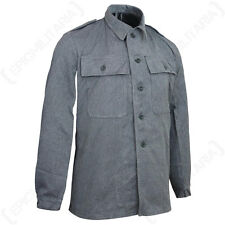 Original Swiss Work Jacket - Surplus Army Denim Coat Shirt Top Vintage Military