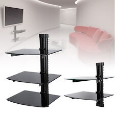 DVD Glass Wall Shelves Bracket Cable Manager for SKY Wii XBOX PS3 Game Console