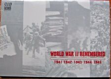 WORLD WAR 2 REMEMBERED 1941-1945 5 SOUVENIR SHEETS MINT NH IN SPECIAL FOLIO