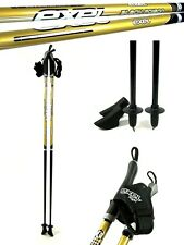 Nordic Walking Stöcke Exel Black Poison Gold CARBON 105-130 cm Asphaltpads