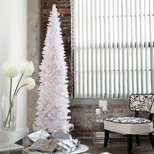 New Finley Home 9' Winter Park Pre-lit Pencil Christmas Tree Clear Lights