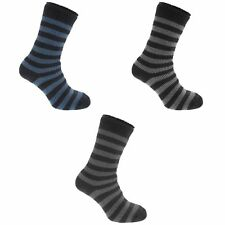 Redtag Mens Striped Extreme Thermal Winter Casual Socks (2.45 Tog)