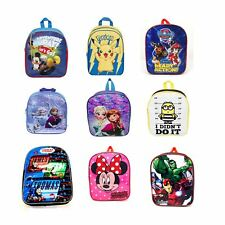 Childrens Kids Boys Girls Disney Marvel Backpack School Bag Rucksack Character