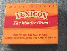"""RARE Waddingtons Lexicon """"The Playing Card Word Game"""" Boxed"""