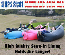 Fast inflatable Sofa Bed Pouch Couch Laybag or Lazy Bag US Shipping Quality Sewn