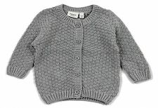 Name it newborn Baby Jungen Strickjacke Nitfrans Cardigan grau Baumwolle