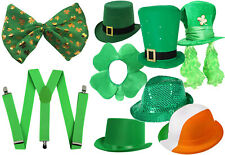 IRISH ST PATRICK'S DAY CHOOSE YOUR SET FANCY DRESS GREEN PADDY HAT + ACCESSORIES