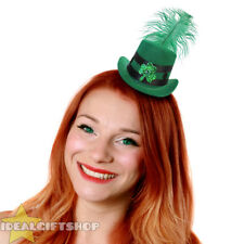 MINI IRISH TOPPER HAT GREEN ST PATRICK'S DAY WOMENS CUTE IRELAND FANCY DRESS LOT