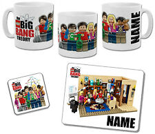 Personalised Lego The Big Bang Theory Mug with Coaster & Placemat Options