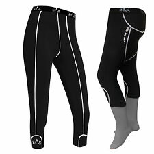 LADIES Compression Tights 3/4  Shorts Running Gym Tights Yoga Trousers