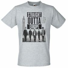 Mens Straight Outta Europe T Shirt Funny Brexit T-Shirt