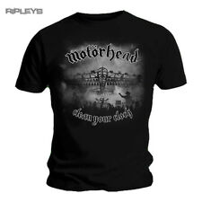 Official T Shirt MOTORHEAD Lemmy  B+W Clean Your Clock All Sizes