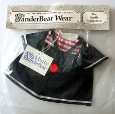 VanderBear Wear The Muffy Collection Dark BLUE SAILOR DRESS with Cap NEW