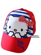 Girls  HELLO KITTY - RED WHITE & BLUE Summer Cap/Sun-Hat   age  7-10  yrs