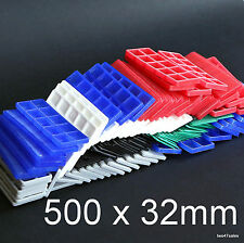 500 Mixed Flat Double Glazing Glass Packers Spacers Window Frame Shim Kitchen