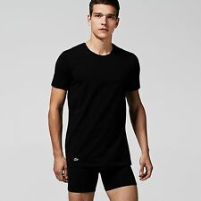 Lacoste Twin Double Pack Crew Neck Cotton T Shirts in Black