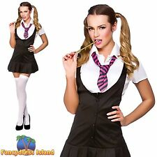 NAUGHTY SCHOOLGIRL ST TRINIANS PINAFORE COLLEGE 6-24 Ladies Fancy Dress Costume