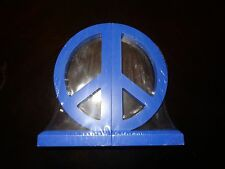 New Sealed Blue Peace Sign Bookends  DOLGENCORP       00001