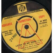 """KENNY BALL AND HIS JAZZ MEN Listen To My Song 7"""" VINYL UK Pye 1971 Promo"""